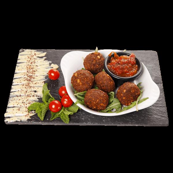Falafel Balls With Salsa DIP